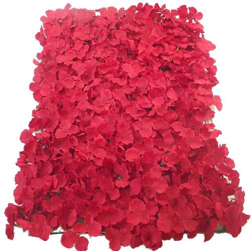 Red Hydrangea Flower Wall Panel 40x60cm