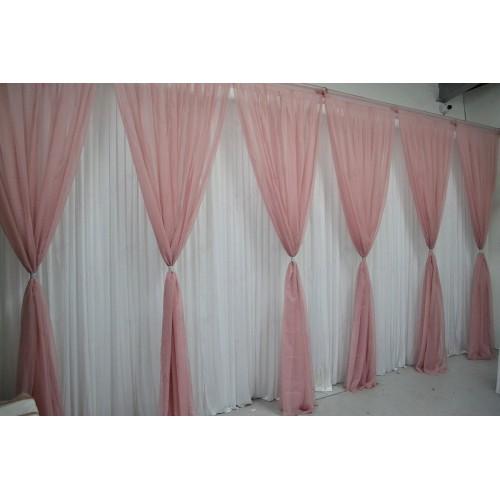 6 Panels Dusky Pink Grecian Backdrop Overlay