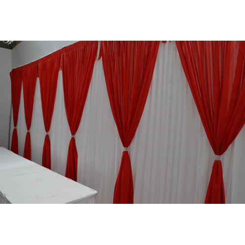 6 Panels  Red Grecian Backdrop Overlay