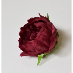 Burgundy Peony Heads Closed - Pack of 10