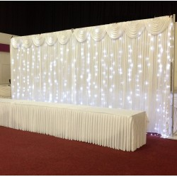 6mx3m Ice White LED Curtain Lights For Wedding Backdrops