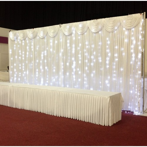 3mx3m Ice White LED Curtain Lights For Wedding Backdrops