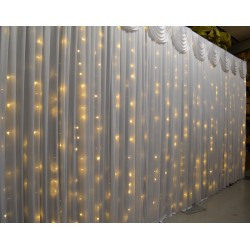 6mx3m Warm White LED Curtain Lights For Wedding Backdrops