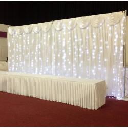 6mx3m Ice White LED Curtain Lights For Wedding Backdrops