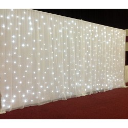 6Mx3M Pure White LED Starlight Wedding Backdrop