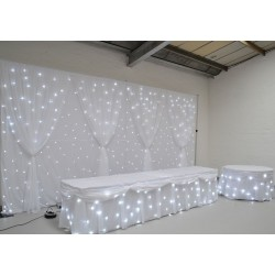 Complete LED Starlight Backdrop Package with Stands