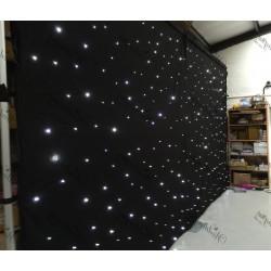 6Mx4M Black LED Star light Wedding Backdrop - ICE WHITE LEDs