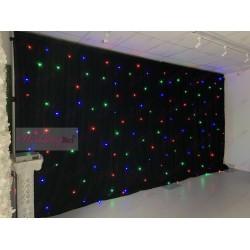 6Mx3M BLACK RGB LED Starlight LED Wedding Backdrop