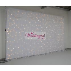 6Mx3M White LED Starlight Wedding Backdrop - WARM WHITE LEDs