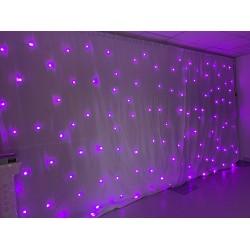 6Mx3M WHITE RGB LED Starlight LED Wedding Backdrop