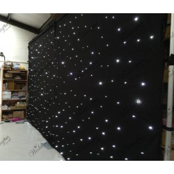 6Mx3M Black LED Starlight Wedding Backdrop