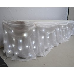 6M LED Starlight Wedding Top Table Skirt