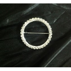 Pack of 100 Silver Diamante Buckles for Sale