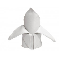 White Polyester Napkins - Pack of 10
