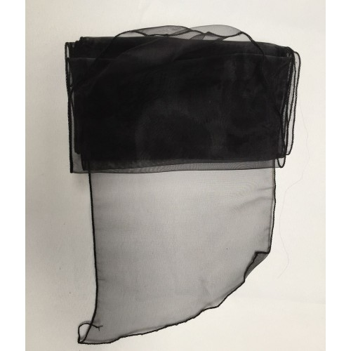 Black Organza Chair Bows - PACK of 10