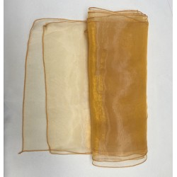 """Gold Organza Table Runners (14""""x108"""")"""
