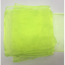 """Lime Green Organza Table Runners (14""""x108"""")"""