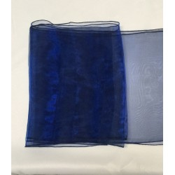 """Navy Blue Organza Table Runners (14""""x108"""")"""