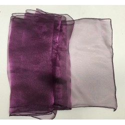 "Plum Organza Table Runners (14""x108"")"