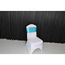 Turquoise Blue Satin Chair Bows - PACK of 10