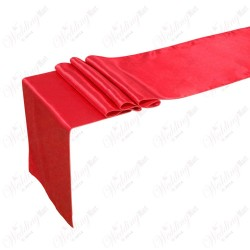 "Red Satin Table Runner (14""x108"")"