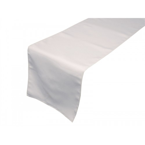 """White Satin Table Runners (14""""x108"""")"""