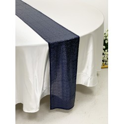 Navy Blue Sequin Table Runners