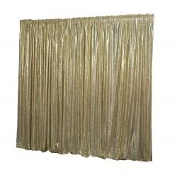6m (w) x 3m (h) Sequin Wedding Backdrop Curtain -  Gold