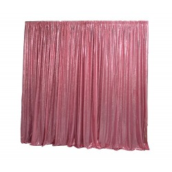 6m (w) x 3m (h) Sequin Wedding Backdrop Curtain -  Pink