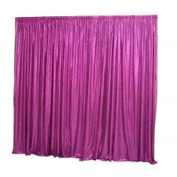 6m (w) x 3m (h) Sequin Wedding Backdrop Curtain -  Purple