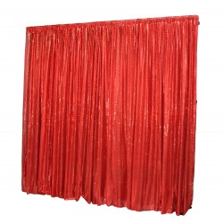 6m (w) x 3m (h) Sequin Wedding Backdrop Curtain -  Red