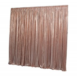 6m (w) x 3m (h) Sequin Wedding Backdrop Curtain -  Rose Gold