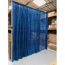 6m (w) x 3m (h) Sequin Wedding Backdrop Curtain -  Royal Blue