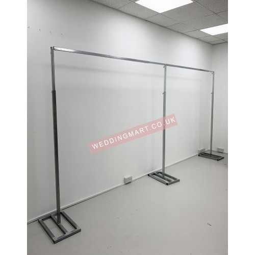 6Mx3M Economy Tescopic Wedding Backdrop Stands V2