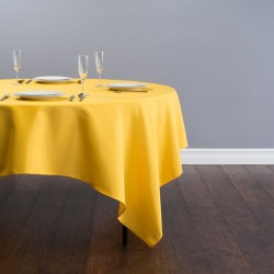 "90""x90"" Gold Polyester Table Cloths"