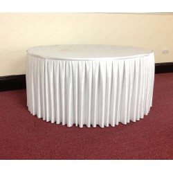 4M White Table Skirt