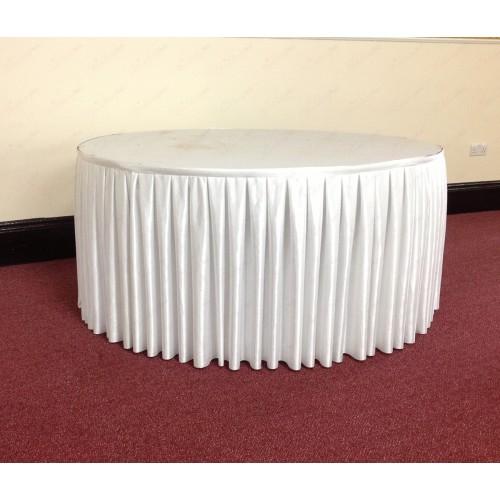 4M White Table Skirt