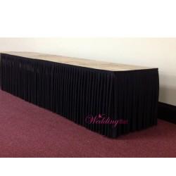 8M Black Top Table Skirt