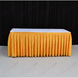 8M Gold Top Table Skirt