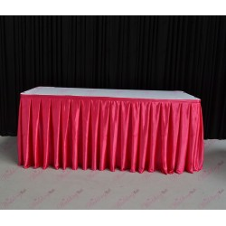 8m Hot Pink Table Skirt