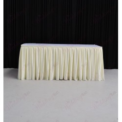 8M Ivory Top Table Skirt