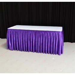 8m Purple Top Table Skirt