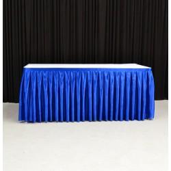 8m Royal Blue Top Table Skirt