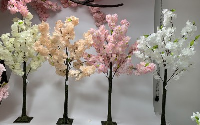 Small Blossom Trees are the Perfect Wedding Table Centre Piece