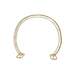 Golden Circular Metal Wedding Arch - B Grade
