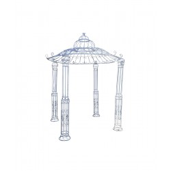 Large Wedding Pagoda Gazebo - B Grade